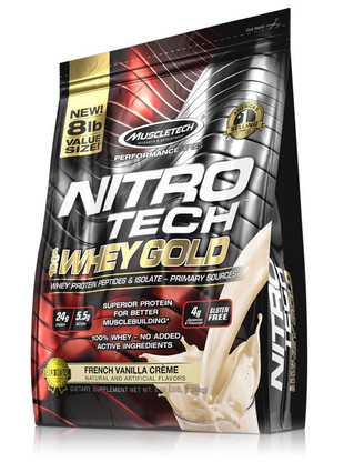 Nitro Tech, 100% Whey Gold (3630 кг)